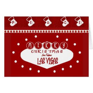 PEACE (RED) Las Vegas Christmas Card