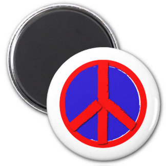 Peace - Red, white and blue Refrigerator Magnets