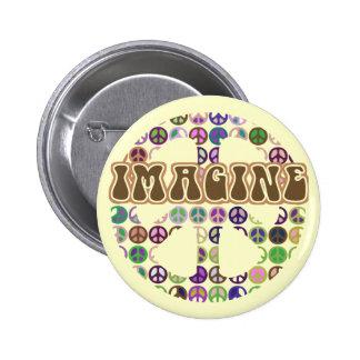 Peace - Retro Peace Sign 6 Cm Round Badge