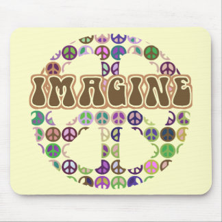 Peace - Retro Peace Sign Mouse Pad