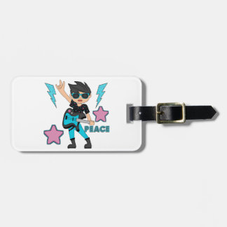 Peace Rock Star Luggage Tag