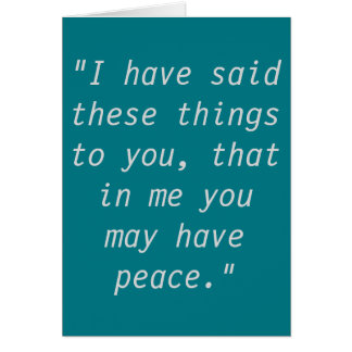 """Peace"" Scripture Greeting Cards"