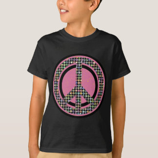 PEACE SEQUINED PINK T-Shirt