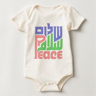 Peace Shalom Salaam infant onsie creeper