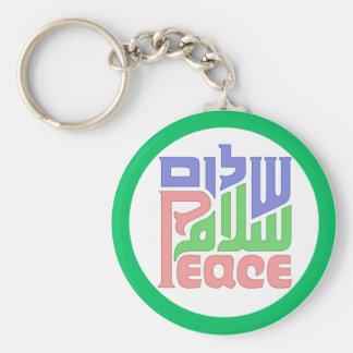 Peace Shalom Salaam keychain