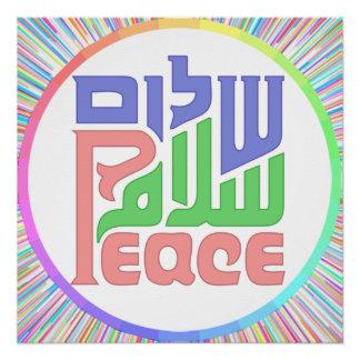 Peace Shalom Salaam poster