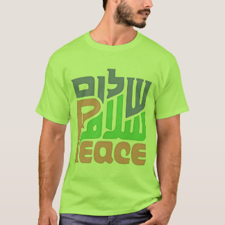 Peace Shalom Salam mens shirt
