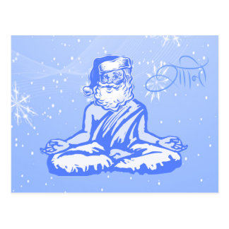 Peace (Shanti) Santa Christmas Card