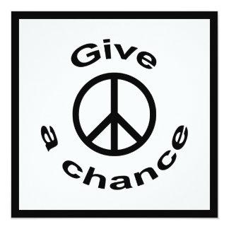 Peace Sign 13 Cm X 13 Cm Square Invitation Card