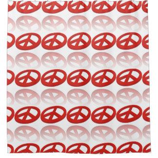 Peace Sign 3D reflexion Shower Curtain