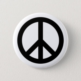 Peace sign 6 cm round badge