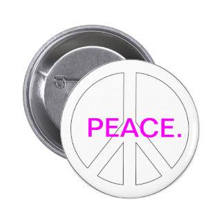 Peace Sign 6 Cm Round Badge