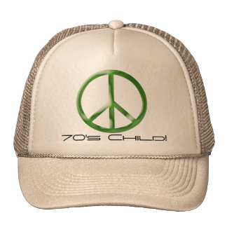 Peace Sign 70's Child Hat