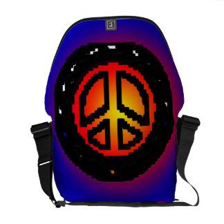 Peace Sign Abstract  Rickshaw Messanger Bag Messenger Bag