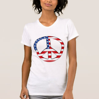 Peace Sign American Flag T-Shirt PERSONALIZE