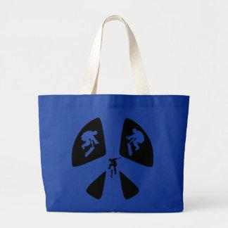 Peace Sign and Skateboarding Jumbo Tote Bag