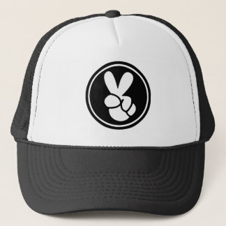 Peace Sign Black White Trucker's Hat