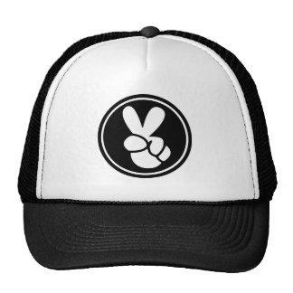 Peace Sign Black White Trucker's Hat
