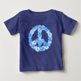 Peace Sign Blue Baby T-Shirt