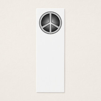 Peace Sign Bookmark Mini Business Card