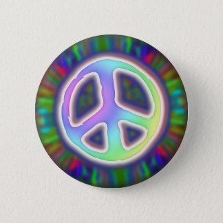 peace-sign-button 6 cm round badge