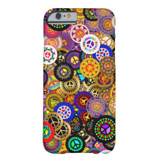 Peace Sign Buttons Collage Barely There iPhone 6 Case