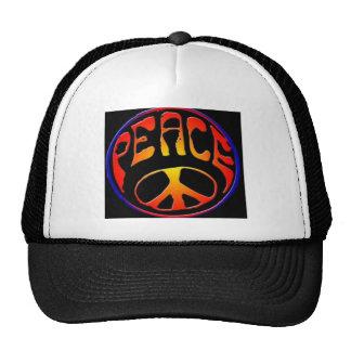 peace-sign trucker hat