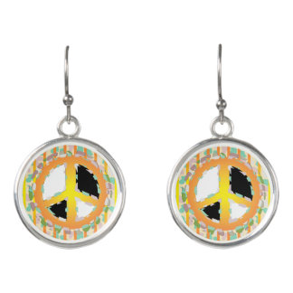 PEACE SIGN CARTOON  EARINGS 2 EARRINGS