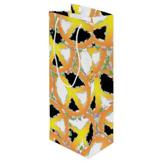 PEACE SIGN CARTOON Gift Bag WINE Glossy