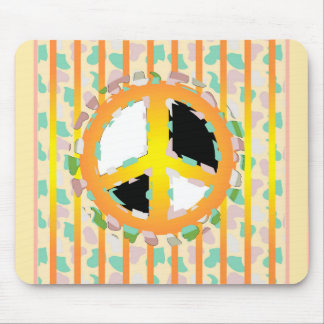 PEACE SIGN CARTOON MOUSE PAD