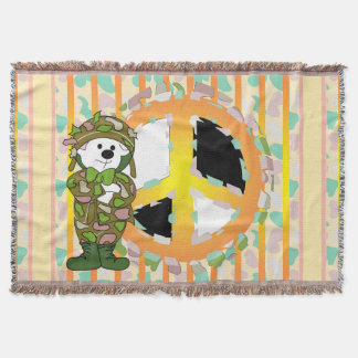 PEACE SIGN CARTOON Throw Blanket 2