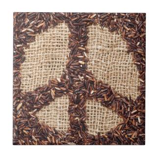 Peace sign ceramic tile