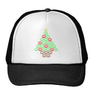 Peace Sign Christmas Tree Cap