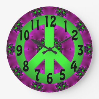 Peace Sign Clock