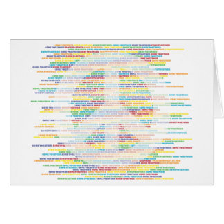 Peace Sign - Come Together WHITE Greeting Card