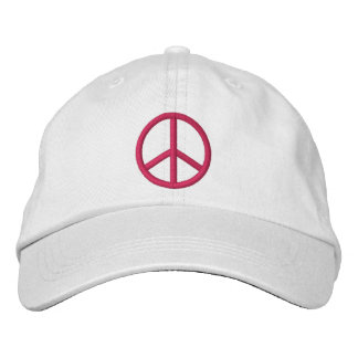 Peace Sign Embroidered Baseball Cap