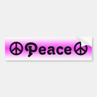 Peace Sign Faded Background Bumper Sticker