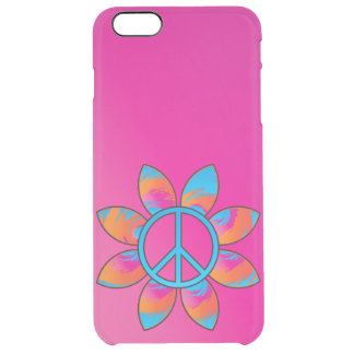 Peace Sign Flower Clear iPhone 6 Plus Case