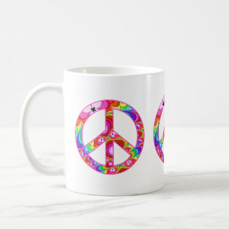 Peace Sign Fractal Groovy Trip Coffee Mug