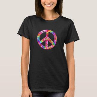 Peace Sign Fractal Groovy Trip T-Shirt
