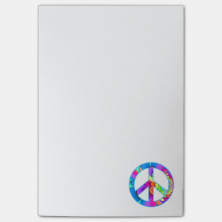 Peace Sign Fractal Post-it Notes
