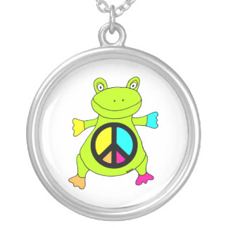 Peace Sign Frog Necklace