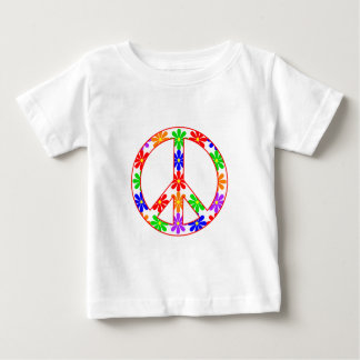 Peace Sign Fun Flowers Baby T-Shirt