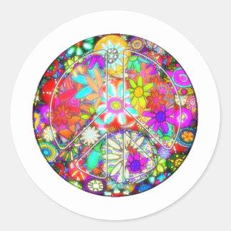 peace sign garden classic round sticker
