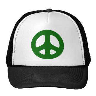 Peace Sign Green Mesh Hats