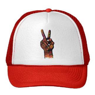 Peace Sign Hand Cap