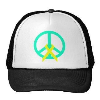peace sign mesh hats