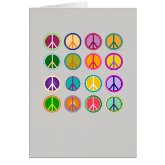 Peace Sign Hippie Popart, 70th, 1970 Card