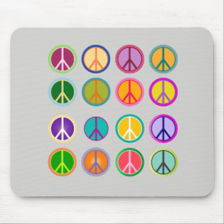 Peace Sign Hippie Popart, 70th, 1970 Mouse Pad