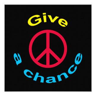 Peace Sign Custom Invitations
